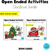 Open Ended Activities Christmas Bundle BOOM Card Deck for Speech Language