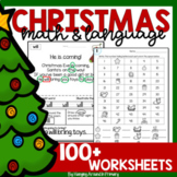 Christmas Activities Bundle of Math and Language Resources