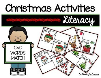 Christmas Activities CVC Match