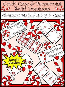 Christmas Activities: Candy Cane Dominoes Christmas Math Game Activity
