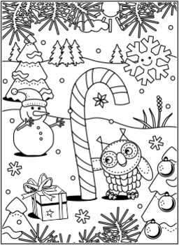 Christmas Activities: Candy Cane Find the Differences and Coloring Page