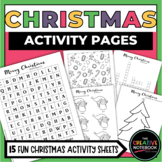 Christmas Activities | Christmas Coloring Pages, Christmas Crosswords, and MORE!