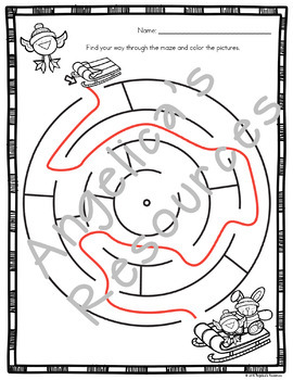 Christmas Activities : Christmas Mazes - Fine Motor Skills and Problem Solving