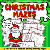 Christmas Activities Mazes Problem Solving Worksheets Executive Function Skills