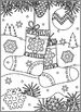 Christmas Activities: Christmas Socks Find the Differences and Coloring Page, CU