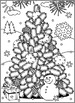 Christmas Activities: Christmas Tree Find the Differences and Coloring Page, CU