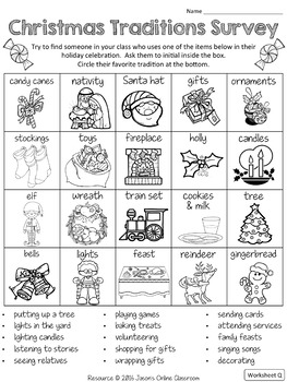 Christmas Activities {Christmas Writing, Reading, S&L, Math}