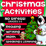 Christmas Activities/ 3rd, 4th, 5th Grades/Reading Comprehension