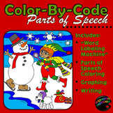 Parts of Speech: Sentence Structure, Coloring, Graphing, Writing [December Ed.]