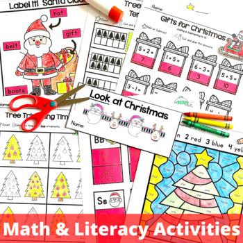 Christmas Activities - Language Arts and Math Printables