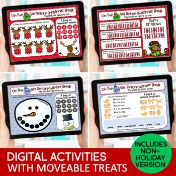 Christmas Activities & Countdown Gifts 5 Days Before Christmas Break Grade 4