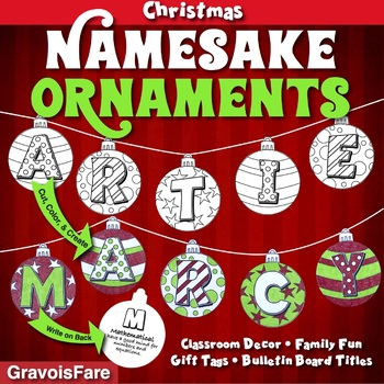 Christmas Activities, Crafts, & Bulletin Boards: Namesake Ornaments