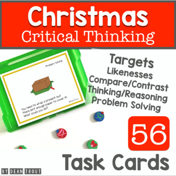 Christmas Activities Critical Thinking Skills 56 Task Cards
