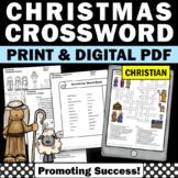 Christmas Crossword Puzzle Religion Education Christian Cl