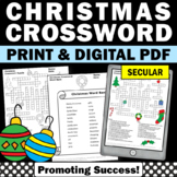Secular Christmas Crossword Puzzle NO PREP Christmas Vocabulary Worksheets