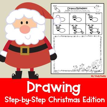 Christmas Activities: Directed Drawing (Writing Option Included)