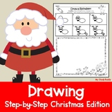 Christmas Activities: Directed Drawing with Writing Option (Christmas Drawing)