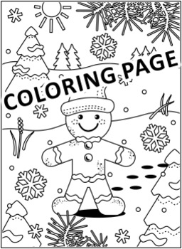 Christmas Activities: Find the Differences and Coloring Page with Ginger Man, CU