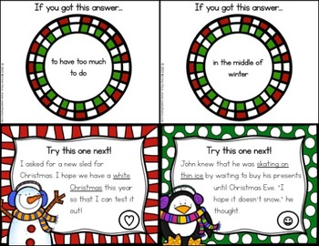 Christmas Activities FREE: A Christmas ELA Scavenger Hunt (Idioms)