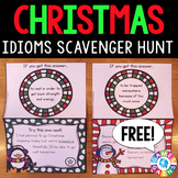 FREE Christmas Game Idioms Scavenger Hunt