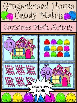 Christmas Activities: Gingerbread House Candy Match Christmas Math Activity