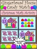 Christmas Activities: Gingerbread House Christmas Math Activity Bundle -Color&BW