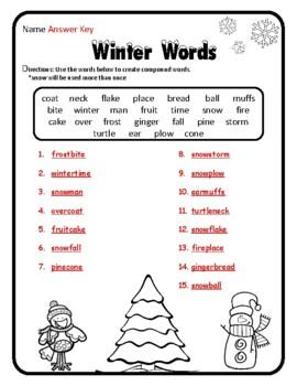 Compound Words Christmas Grammar Christmas Activities Grammar Christmas ELA