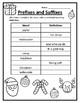 Christmas English Prefixes & Suffixes Christmas Language Arts Christmas 2nd