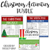 Christmas Activities Bundle: Two Christmas Themed Math Projects, Escape Room