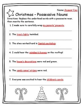 Singular Possessive Nouns | 3rd Grade Noun Worksheet