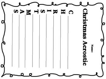Christmas Activities Literacy Bundle