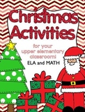 Christmas Activities Math & ELA Grades 3-5