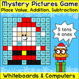 Christmas Activities Mystery Pictures Math Game for SmartBoards