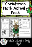 Christmas Activities- Math Puzzles and Games for Middle an