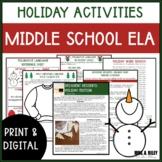 Christmas Activities Middle School ELA | Digital
