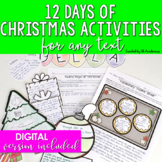 Christmas Activities Middle School & High School {12 Readi