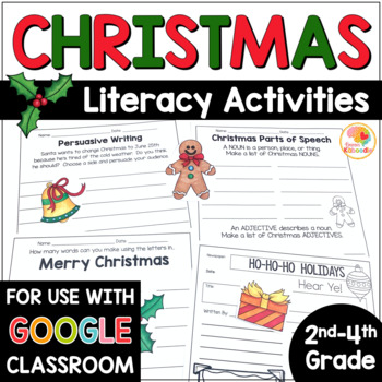 Christmas Worksheets - No Prep Literacy Activities