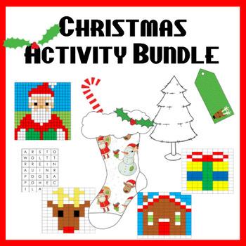 Christmas Activities NO PREP BUNDLE!