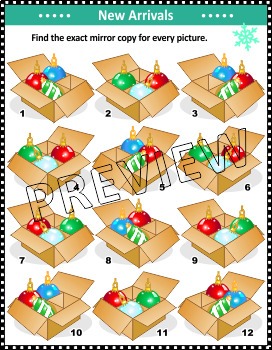 Christmas Activities: New Baubles Arrival Visual Puzzle, Non-CU