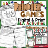 """Christmas Activities: No-Prep """"Reindeer Games"""" ELA Activities for Grades 3 - 5"""