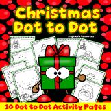 Christmas Activities: Number Sense - Dot to Dot Printables - Fine Motor Skills