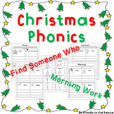 Christmas Activities - Phonics - Find Someone Who - Morning Work