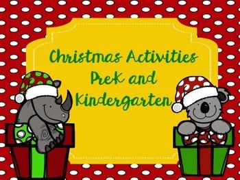 Christmas Activities Pre-K and Kindergarten
