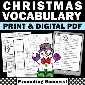 Christmas Writing Activities, Word Search, Letter Writing, Acrostic Poem MORE