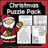 Christmas Activities - Math & Literacy Puzzles | Early Finishers