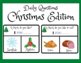 Christmas Activities- Question of the Day