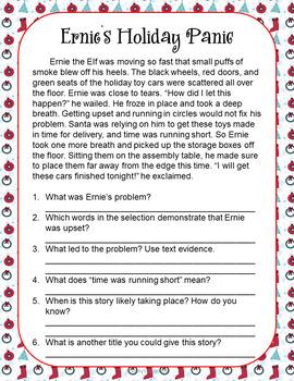 Christmas Activities * No-Prep ELA Activities, Writing Prompts & More!