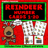 Christmas Activities: Counting Cards - Numbers 1-20 - Number Sense - Ten Frames