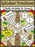 Christmas Activities: Reindeer Dominoes Christmas Math Game Activity Bundle