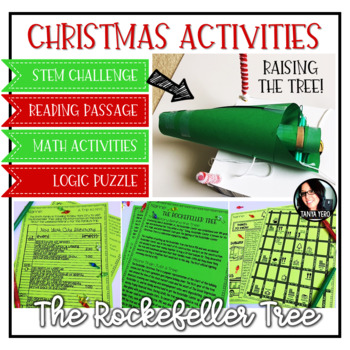 Christmas Activities Rockefeller Tree STEM Challenge, Math Activities, & More!
